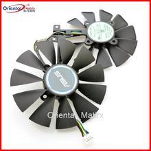 T129215SU 12 В 0.5A 87 мм VGA вентилятор для ASUS GTX1050TI GTX1060 GTX1070 RX480 Видеокарта кулер вентилятор охлаждения