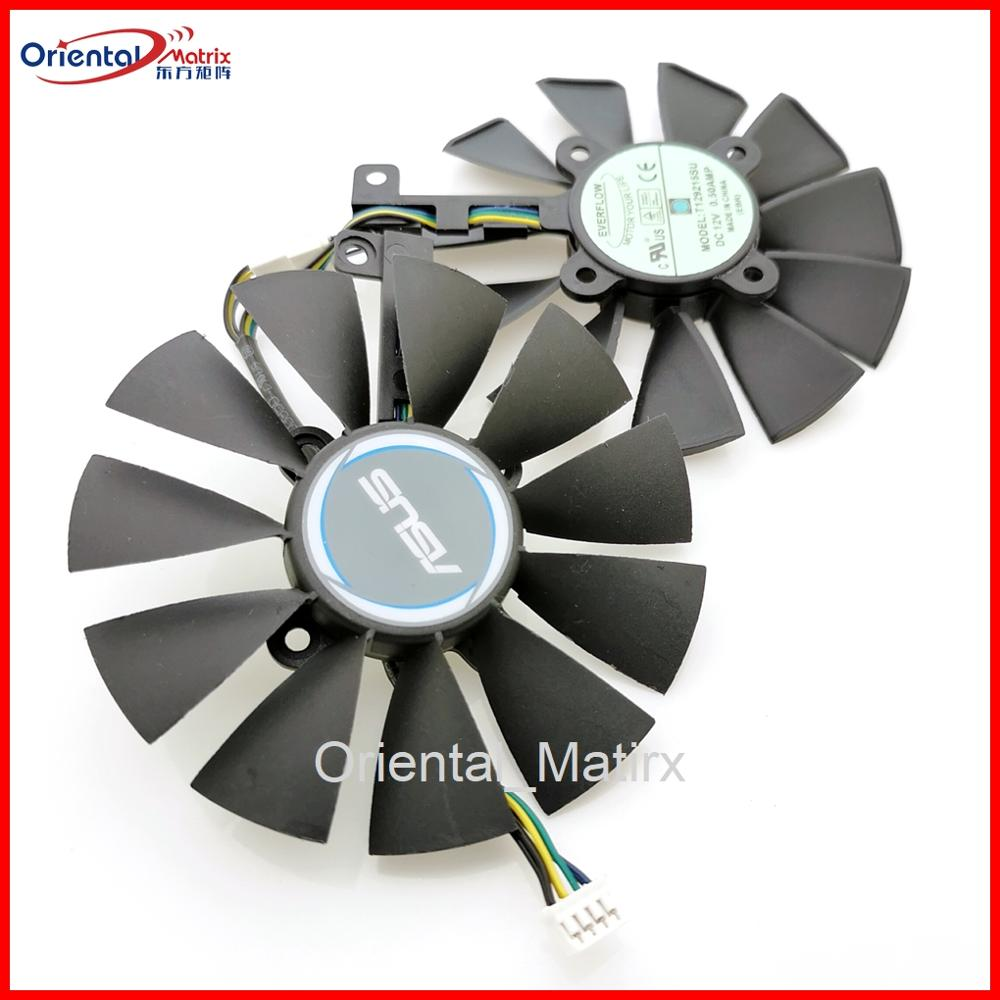 Free Shipping Original T129215SU 12V 0.5A 87mm VGA Fan For ASUS GTX1050TI GTX1060 GTX1070 RX480 Graphics Card Cooler Cooling Fan image