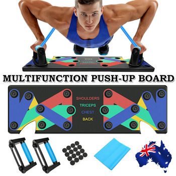 9 in 1 Multifunction Push-up Holder Push Up Rack Board Fitness Exercise Push-up Stands Body Building Training Fitness Equipment
