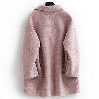 Coat Wool 2020 Female Spring fall Alpaca Jacket Pink Coat Korean Oversized Coats and Jackets Women B18Y05429 Z KJ2391 s s