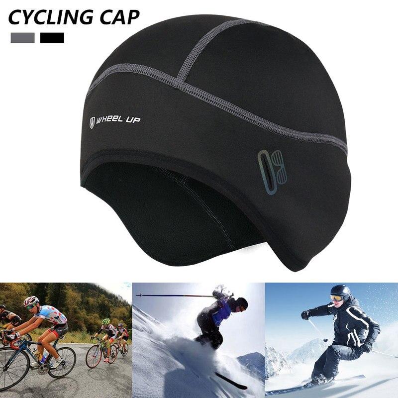 Winter Cycling Windproof Thermal Cap Helmet Liner Bicycle Fleece Hat Outdoor