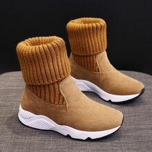 Zapatillas altas de invierno para correr para mujer, zapatillas de deporte al aire libre cálidas para mujer, botas de correr de algodón para correr, 2019