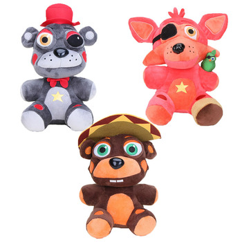 18cm Five Nights At Freddy Fnaf Plush Toys Freddy Fazbear 5 Fox Bear El Chip Lefty Rockstar Foxy Chica Bonnie For Kids Best Gift 1
