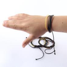 Bracelets Bangle Wristband Punk Jewelry Handmade Male Men's Women ZMZY Wrap Wrap