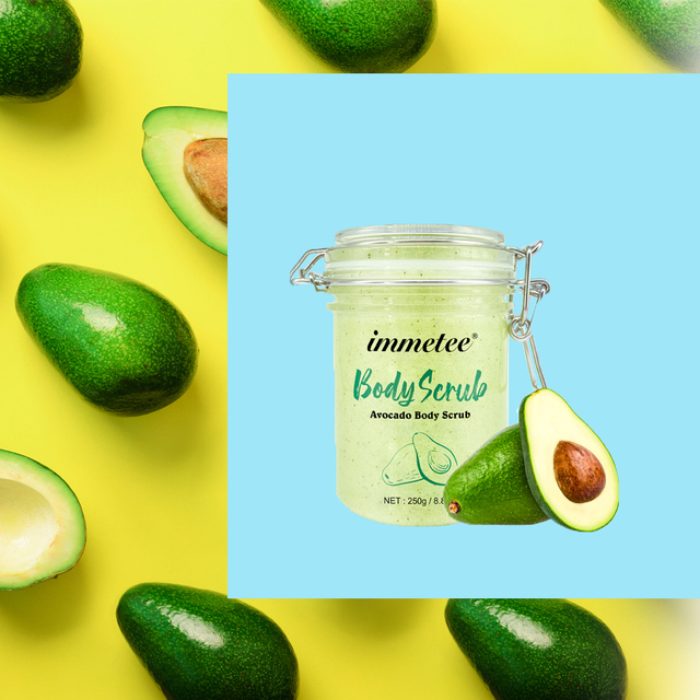 Avocado Scrub Body Shea Butter Cream Facial Dead Sea Salt For Exfoliating Whitening Moisturizing Anti Cellulite Treatment Acne 1