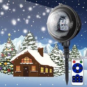 Image 5 - Led Luci Di Natale Nevicata Proiettore IP65 Folate di Cadere Lampada Da Giardino Esterno Neve spot Per Le luci a led decorazione