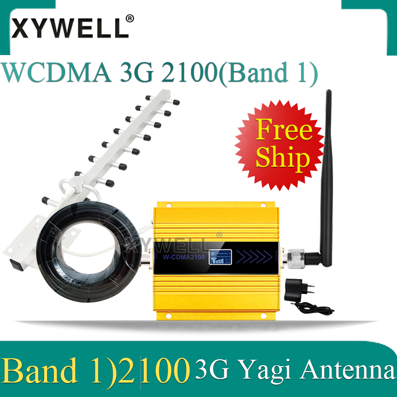 2100MHz 3G Cellullar Amplifier Gsm Mobile Signal Booster LTE (Band1) 2100MHz 4g Signal Repeater Cellphone GSM Signal Repeater