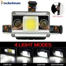 10000LM Super Bright COB+LED Headlamp 4 Lighting Modes USB Charging 18650 Head Light Outdoor Camping Fishing Headlight Lantern
