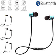 The new magnetic bluetooth headset binaural sports V4.1, a variety of colors available hand