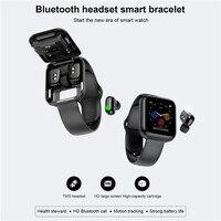 KINGSTAR-reloj inteligente X5 con auriculares TWS, Bluetooth, auriculares inalámbricos 2 en 1 con pantalla grande HD, Monitor de ritmo cardíaco y presión arterial