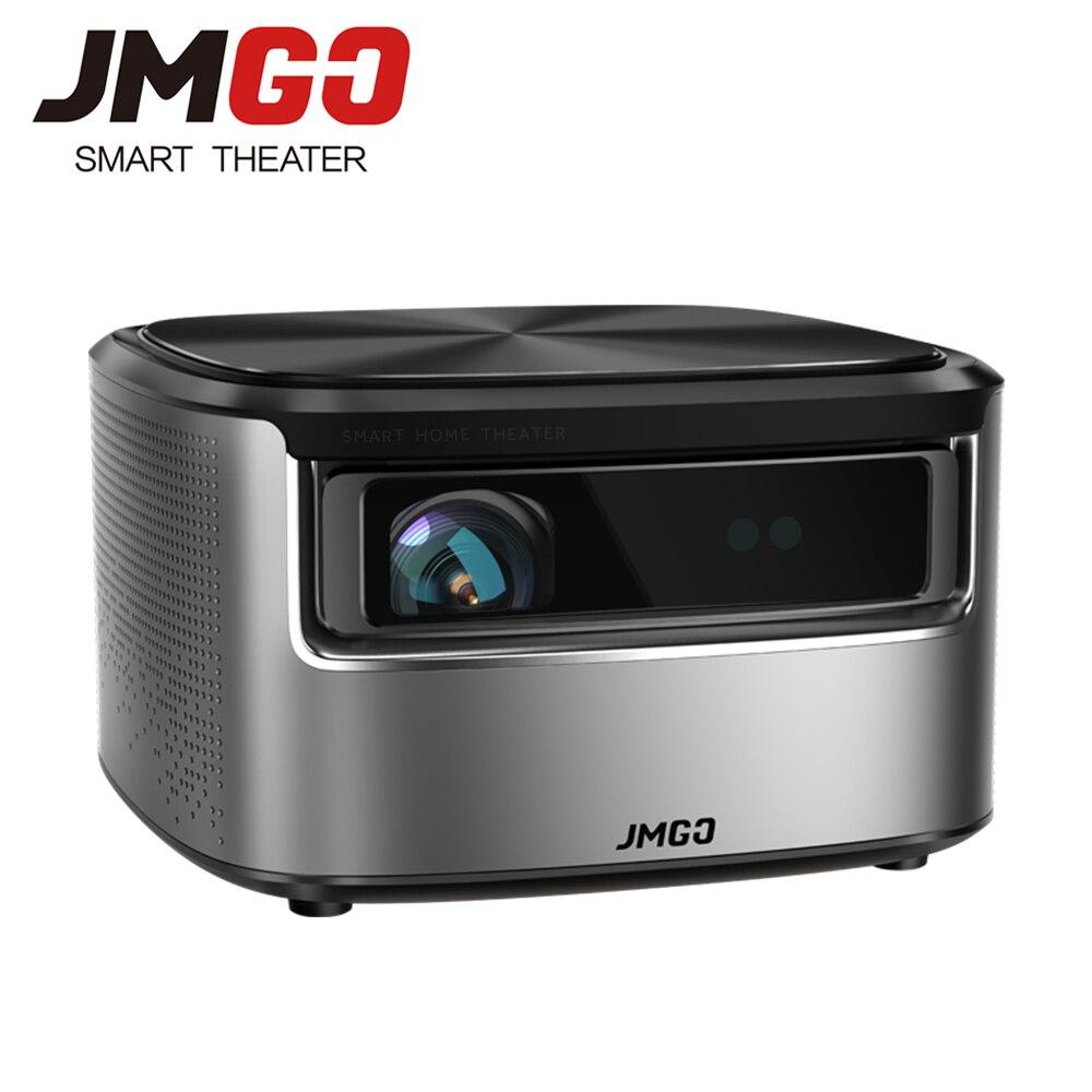 JMGO N7 Proiettore Full HD, 1300 ANSI Lumen, 1920*1080 P. Smart Beamer Home Cinema. Supporto 4 K, 3D Proiettore