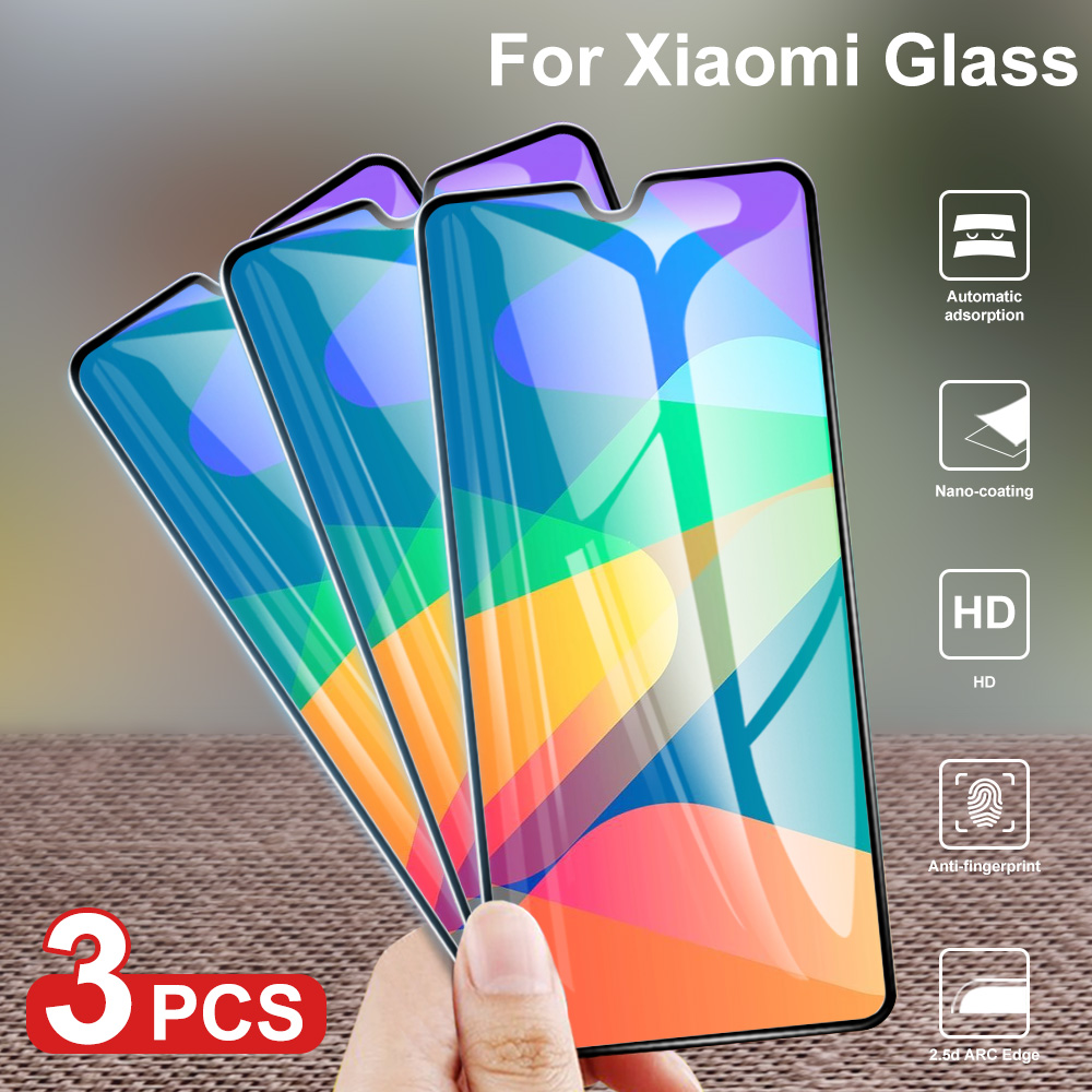 3Pcs Tempered Glass On For Xiaomi Redmi Note 8 6A 7A 5 Full Cover Screen Protector For Redmi Note 7 MiA3 8Pro S2 Protective Film