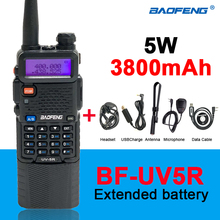 Baofeng Radio UV-5R Extended Battery 3800mAh Handheld Dual Band 2way Radio 10-50KM Long Distance Walkie Talkie UV5R рация 2020