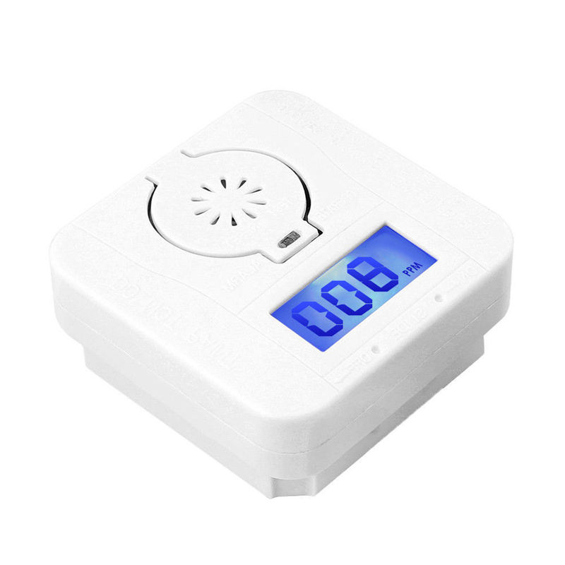 AMS-Co Carbon Monoxide Smoke Detector Alarm Poisoning Gas Warning Sensor Security Poisoning Alarm Lcd Photoelectric Detectors