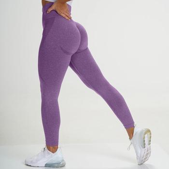 Wysokiej talii bezszwowe legginsy leginsy Push-Up Sport kobiety Fitness Running joga spodnie Squat dowód treningu sportowej rajstopy na siłownię tanie i dobre opinie HAIMAITONG CN (pochodzenie) Elastyczny pas POLIESTER WOMEN Dobrze pasuje do rozmiaru wybierz swój normalny rozmiar Yoga