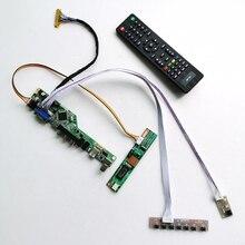 For QD15XL01 QD15XL04 Remote+Inverter+keyboard 1CCFL 30Pin LVDS VGA HDMI AV USB T.V56 controller board LCD display panel DIY kit