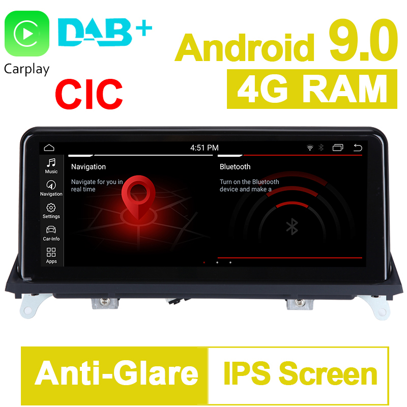 10.25 inch 4G RAM 32G ROM Android 9.0 System Car GPS Navigation Media Stereo Radio For <font><b>BMW</b></font> <font><b>X5</b></font> <font><b>E70</b></font> X6 E71 2011- 2014 CIC System image