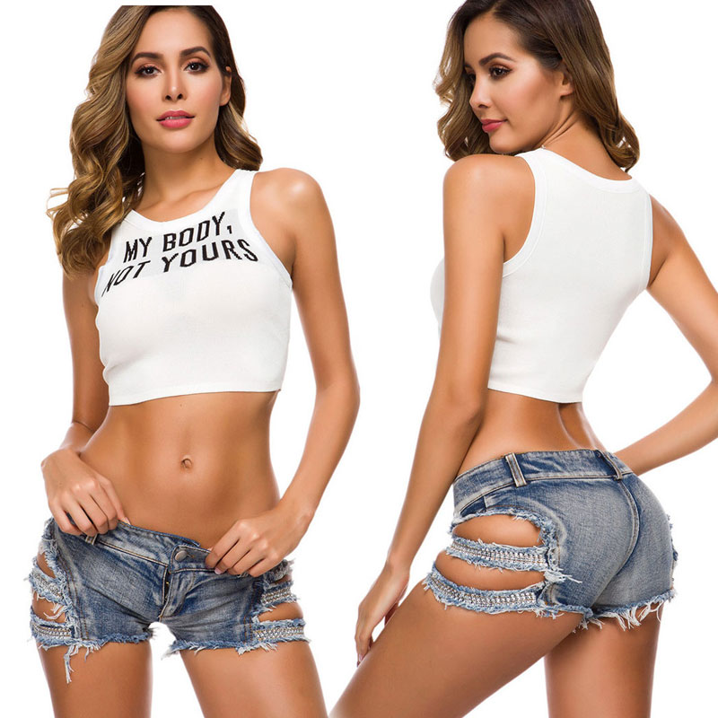 New Sexy Women Shiny Hollow Out Hot Short Bandage Tassel Low Rise Waist Micro Mini Short Sexy Jeans Shorts Plus Size Gay Wear