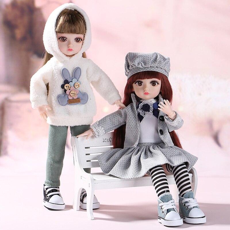 Кукла BJD, 36 см, милое платье для маленькой девочки, 15 передвижных шарнирных кукол, игрушки принцессы, модное платье, красивые волосы BJD, игрушка «сделай сам», подарок для девочек| |   | АлиЭкспресс - Куклы