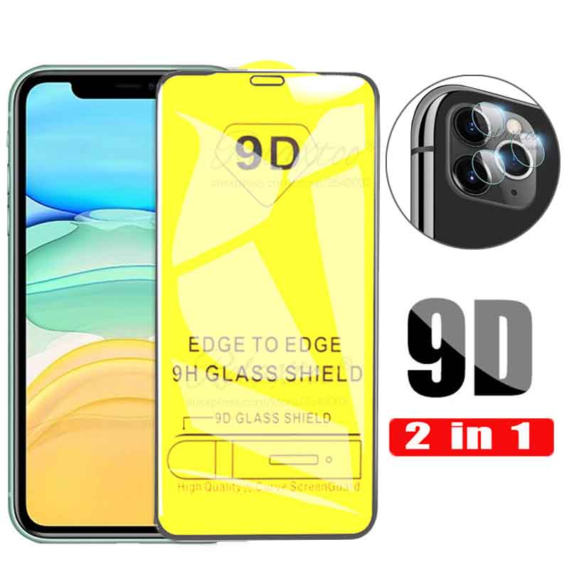 2-in-1 Tempered Glass + Camera Glass For apple iphone 11 pro max Screen Protector For iphone11pro iphone11promax Lens Film 9h