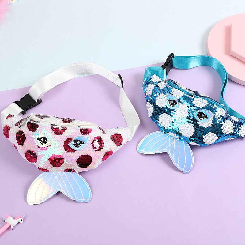 2020 los más nuevos niños calientes bebé lentejuelas cinturón cintura cartera bolsa de cadera bolsa de viaje vacaciones pesca cola de fiesta bolsas