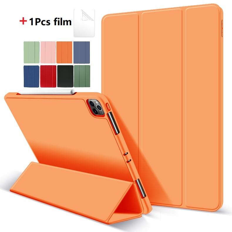 Orange Orange Protective Tablet Case For iPad Pro 11 Case 2020 with Pencil Holder Shockproof Stand Back Shell