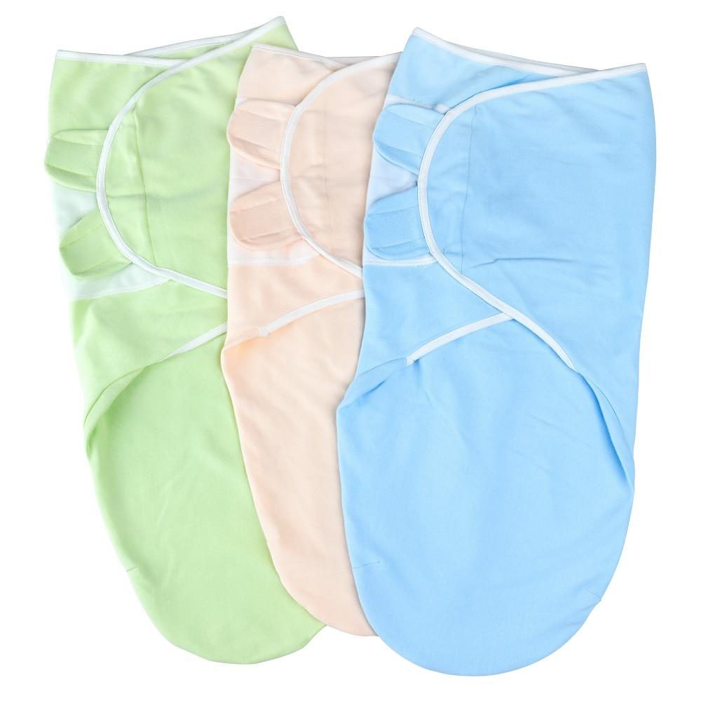 Adjustable Swaddle Blanket Infant Baby Wrap Soft Blanket Swaddle Sleeping Bag Sleep Sack Stroller Wrap For Baby 0-3 Month