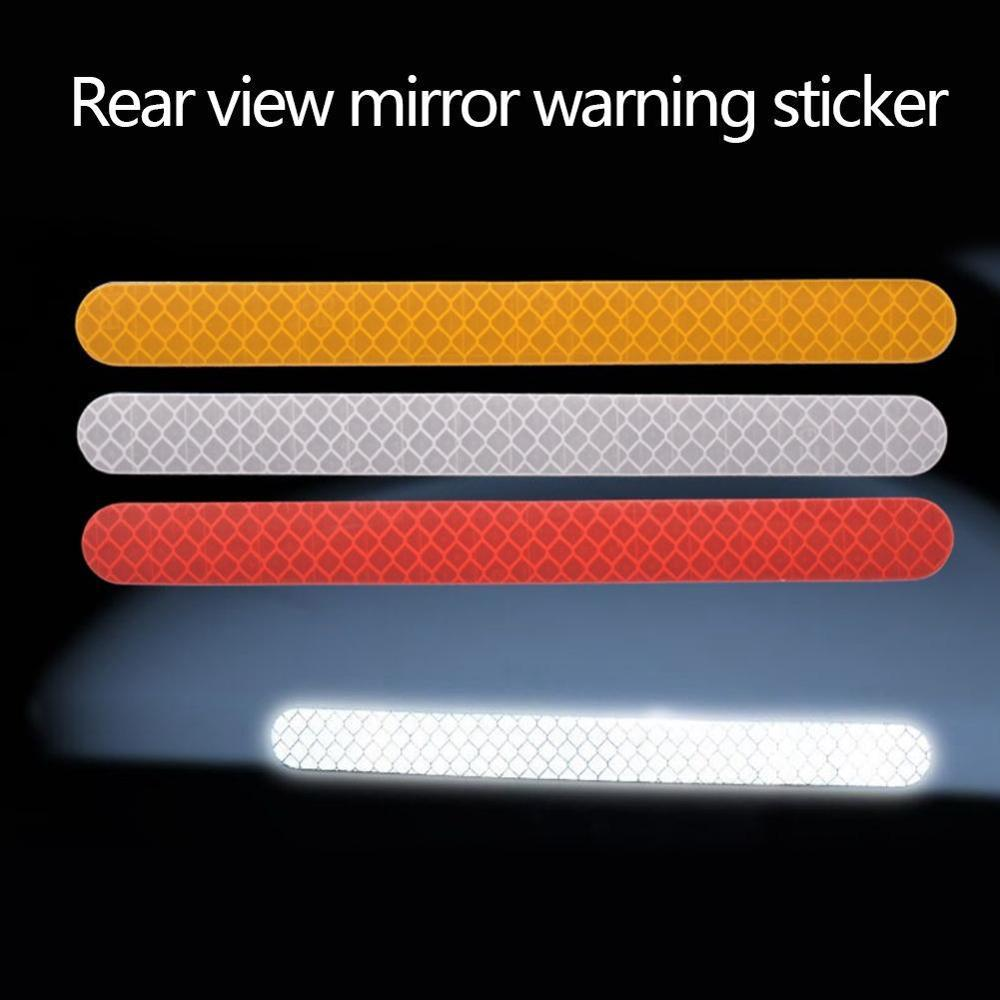 6Pcs Reflectante Car Stickers Reflector Rearview Mirror Reflective Tape Car Accessories Exterior Reflex Tape Reflective Strip