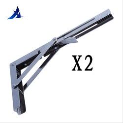 2X الثقيلة مصقول المقاوم للصدأ للطي الجرف مقعد الجدول الرف أو قوس 11