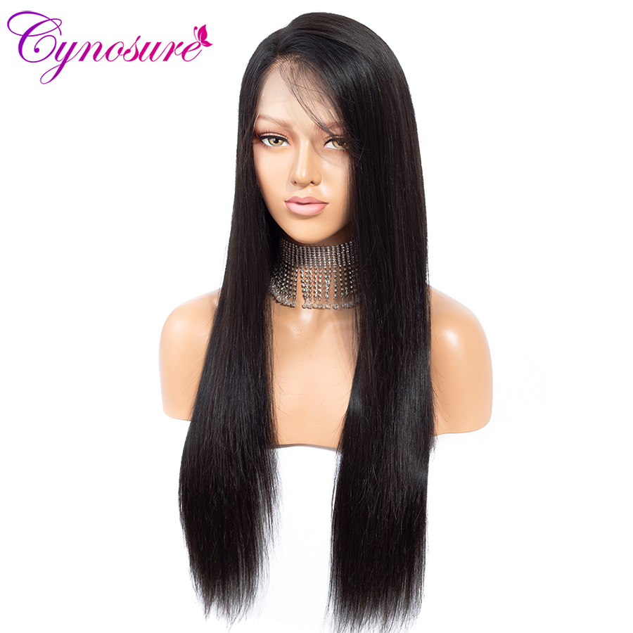 H2206115f26d641289584e4cb2ec948439 Cynosure 4x4 Straight Lace Closure Wig Brazilian Lace Closure Human Hair Wigs Pre-Plucked with Baby Hair Remy