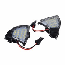 2x Error Free LED Side Mirror Puddle Light For Vw Golf 5 Mk5 MkV Passat b6 Jetta Eos