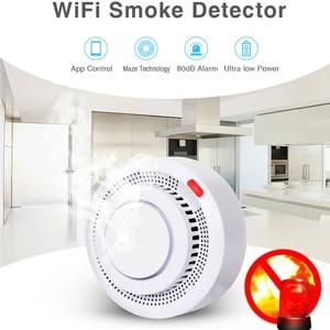 Image 3 - Smart Home Automation Wifi Smart Smoke Detector Tuya Smart Life Fire Alarm Sensor Home Security System