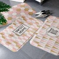 Door pad network celebrity carpet home non skid pad pink kitchen