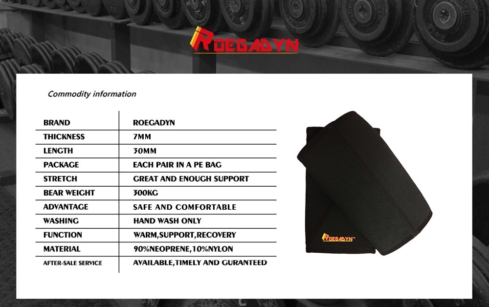Roegadyn 7mm cruz neoprene duro profissional qualidade