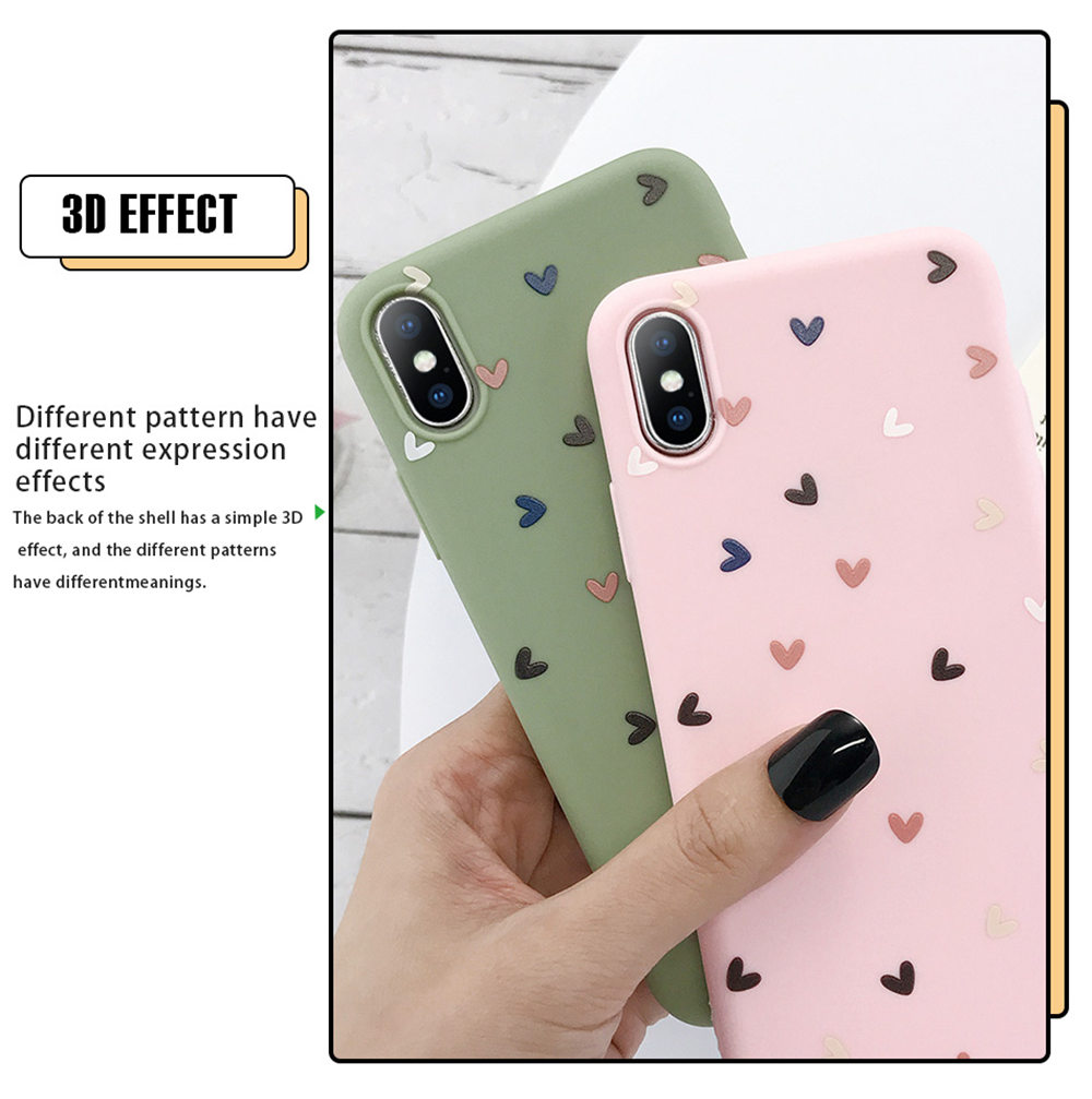 H2206b8add2624d7d8fc9f8db44cf815bZ - Lovebay Silicone Love Heart Phone Case For iPhone 11 Pro X XR XS Max 7 8 6 6s Plus 5 5s SE Candy Color Shell Soft TPU Back Cover