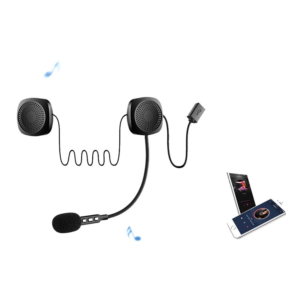 20M Motorcycle Bluetooth Helmet Intercom Wireless Anti-interference Helmet Headset Hands Free Headphone Waterproof