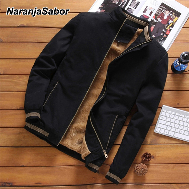 NaranjaSabor Jackets Men's Casual Cool Jacket Male Fashion Baseball Hip Hop Streetwear Coats Slim Fit Coat Brand Clothing N553