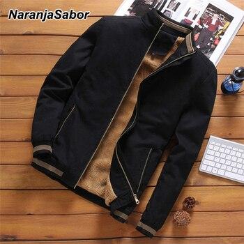 NaranjaSabor Jackets Men's Casual Cool Jacket Male Fashion Baseball Hip Hop Streetwear Coats Slim Fit Coat Brand Clothing N553