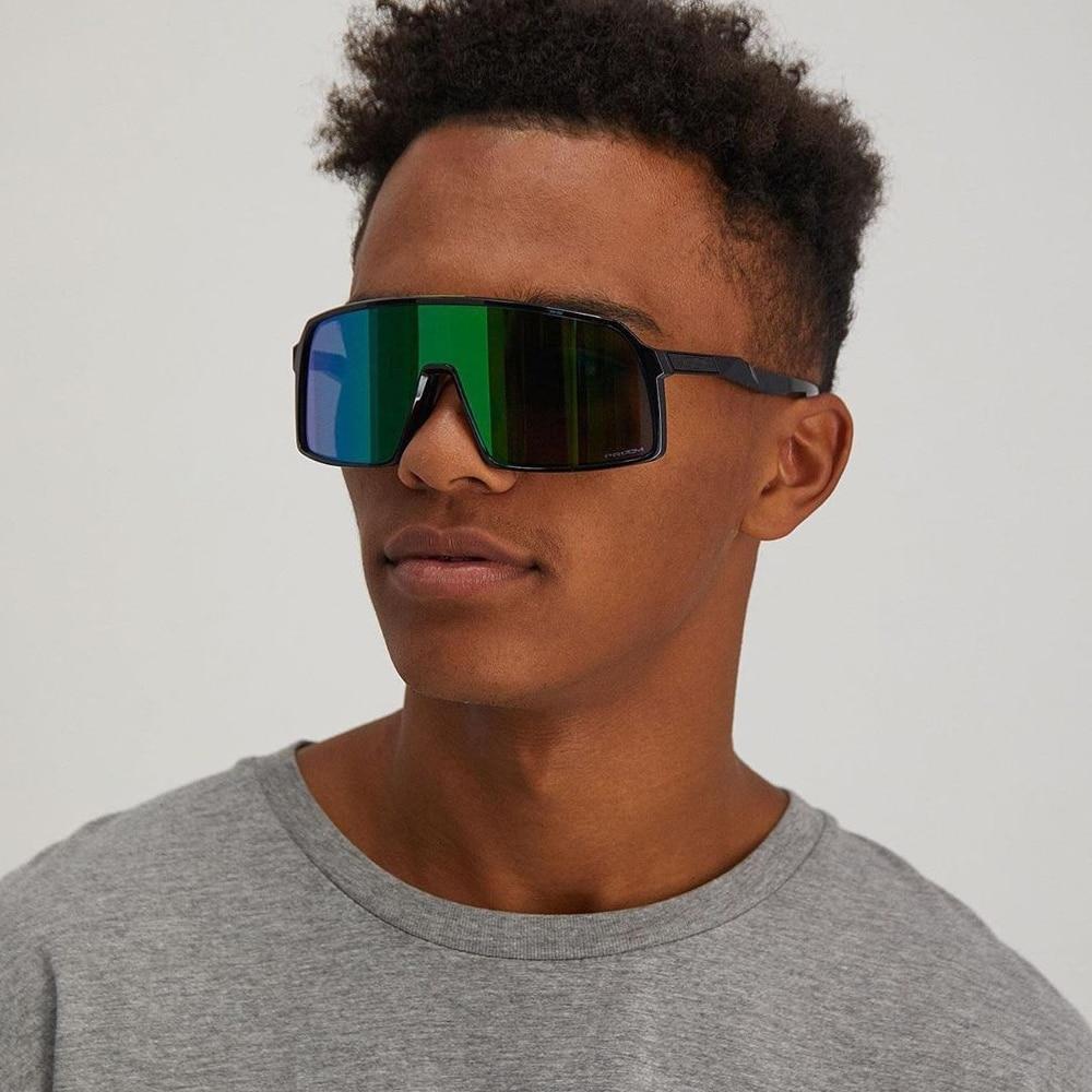 QPeClou 2020 New Outdoor Colorful Mirror Sunglasses Men Fashion One Piece Oversized Sun Glasses Women Plastic Square Shades