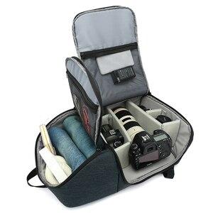 Image 4 - حقيبة ظهر للكاميرا مقاومة للماء متعددة الوظائف ، حقيبة سفر محمولة ذات سعة كبيرة ، حقيبة عدسة