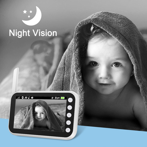 Image 5 - Ainhyzic 4.3'' IPS Screen Video Baby Monitor with Camera,Wireless Cry Baby Alarm Video Monitor Night Vision Security Babysitter