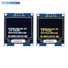 1.5 Cal 128x128 ekran OLED ekran IIC interfejs I2C SSD1327 sterownik 1.5 ''wyświetlacz plansza biały żółty dla Arduino