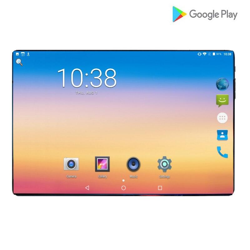 2019 Version mondiale chaude 10.1 pouces tablette PC Octa Core 6GB RAM 64GB ROM 4G LTE Android 9.0 WiFi 1280*800 IPS 2.5D verre + cadeaux
