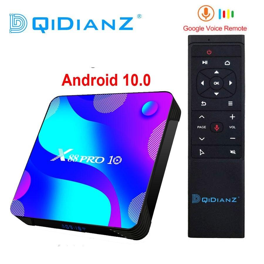 DQiDianZ Android 10,0 X88PRO 4 ГБ 32 ГБ 64 Гб 128 Гб Rockchip RK3318 4K Google Store поддержка Youtube телеприставка X88 PRO 10