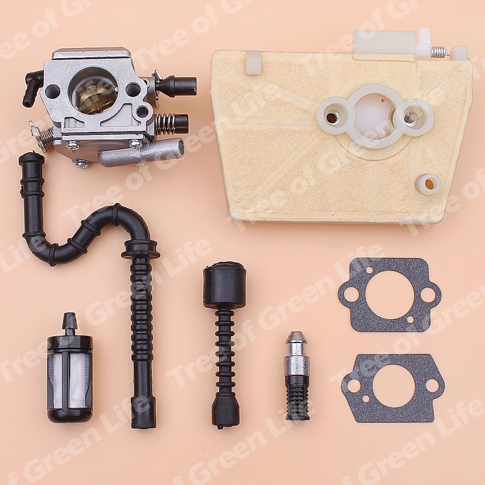 Carburetor Fitler Line 1119 Oil MS380 038 120 Stihl For Air 120 Chainsaw 1607 Carb MS381 0650 Fuel 1119