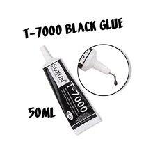 Cola multifuncional t7000 50ml, moldura para tela de celular diy, selante epóxi, cola líquida super preta T-7000 esmalte de unhas