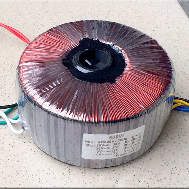 500W toroidal <font><b>transformer</b></font> output two sets of three-wire <font><b>36V</b></font>+ two sets of 12V secondary 10-wire output image