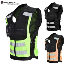 GHOST RACING Motorcycle High Visibility Security Reflective Vest