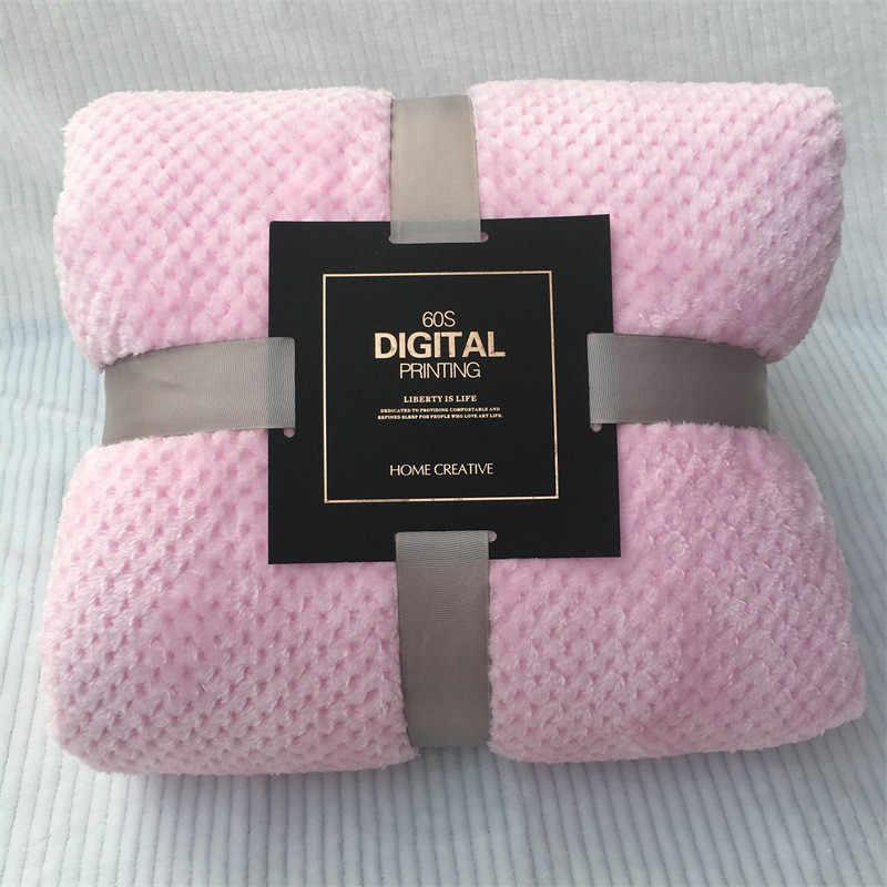 أفضل بيع 2019 منتجات لينة الدافئة منقوشة الصوف بطانية سرير كبير شبكة الفانيلا البطانيات سميكة تنفس دعم دروبشيبينغ