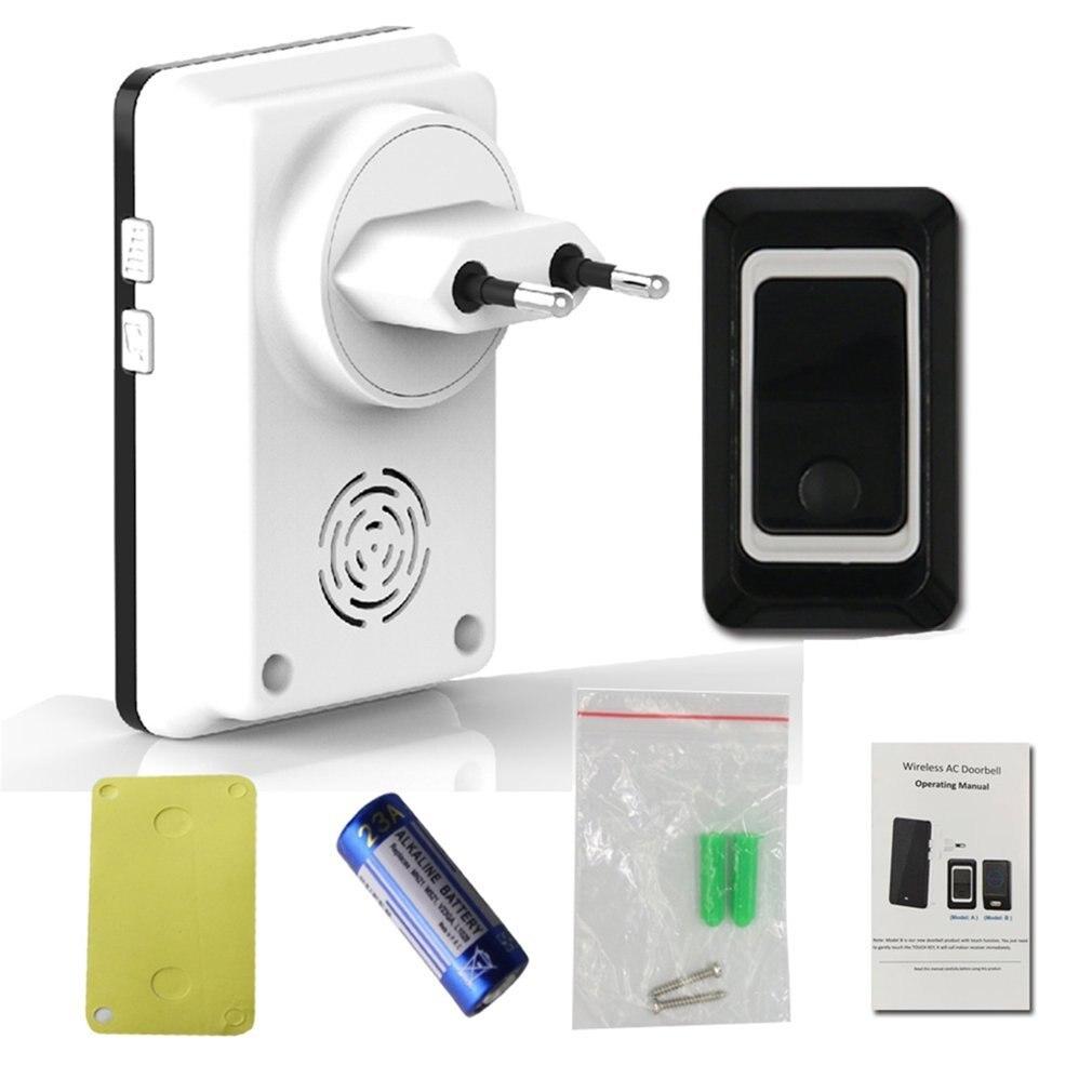 TS-K108W11 Simple Design Home Wireless Door Bell Doorbell Energy Saving Adjustable Sound Volume Door Bell Black US/EU
